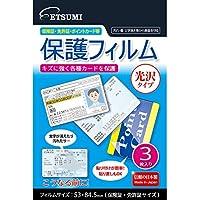エツミ 各種カード用保護フィルム 光沢タイプ E-7358
