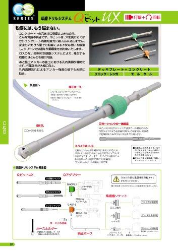 ユニカ吸塵ドリルシステム QビットUX SDSシャンク QSXA 12.7×260