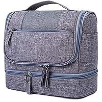 吊りトイレタリーバッグ防水 - 男性のための小さな旅行Foldableウォッシュバッグ、女性のメイクアップバッグ、高品質のジッパー化粧バッグ (色 : グレー)
