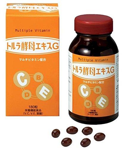 緑応科学 トルラ酵母エキスG マルチビタミン配合 栄養機能食品 180球 (約30日分)