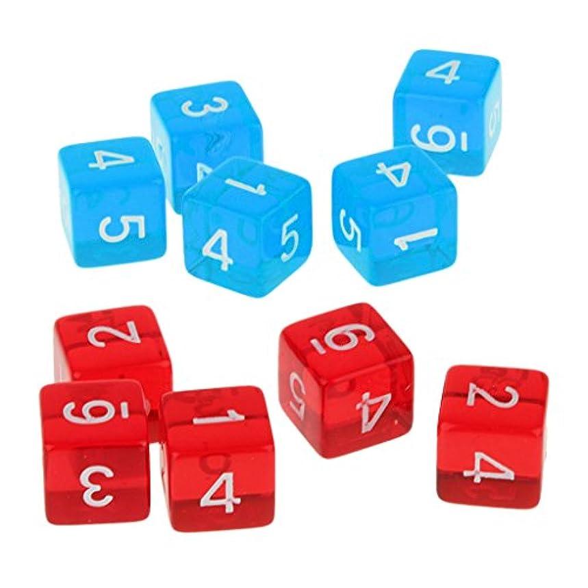 アラブアーネストシャクルトンシールド6面d6ダイス D6サイコロ 骰子 10枚 アクリル製