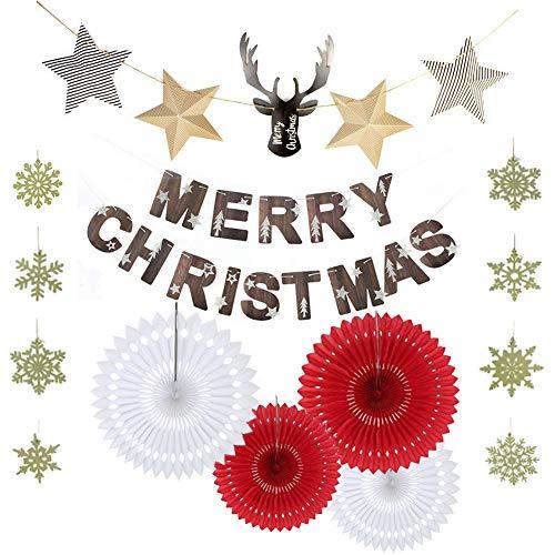 クリスマス 飾り SEPO ガーランド 北欧風 雪 鹿 星 パーティー 飾り付け