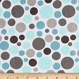 Shannon Minky Cuddle Classic Bubble Dot Topaz Fabric by Shannon Fabrics