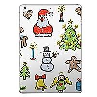 iPad Air2 スキンシール apple アップル アイパッド A1566 A1567 タブレット tablet シール ステッカー ケース 保護シール 背面 人気 単品 おしゃれ クリスマス サンタ イラスト 009703