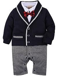 5138c014273d7 ZOEREA(ゾエレア) ベビースーツ 男の子長袖スーツ 1点セット 紳士風 フォーマルベビーロンパース ベビー…