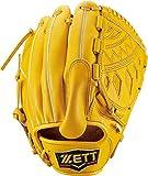 ZETT(ゼット) 軟式野球 グラブ (グローブ) ネオステイタス ピッチャー用 右投げ用 トゥルーイエロー(5400) 専用グラブ袋付き サイズ:4 BRGB30011