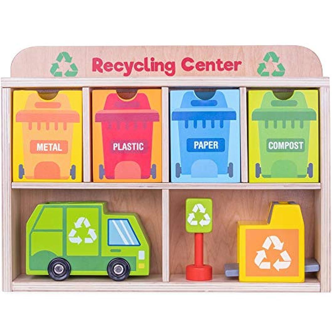 バイパス故国彼女はデラックス 木製 リサイクルセンタープレイセット 24ピース