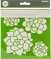 Kaisercraft IT487 デザイナーテンプレート 6インチ x 6インチ 多肉植物