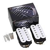 Etfbuy 白  クラシック メタル エレクトリックギター ピックアップハムバッカーセット