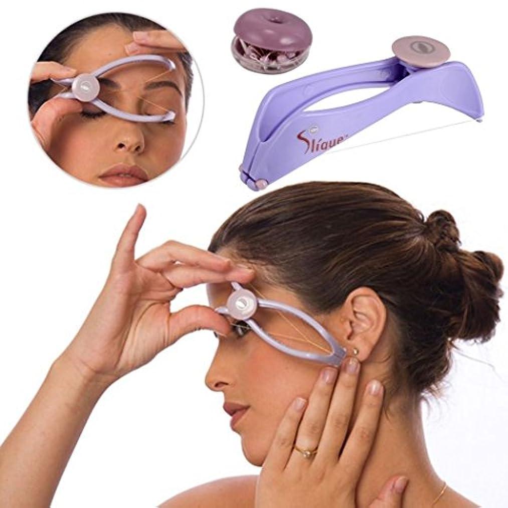 頭蓋骨経験者瞑想女性の美しさの髪リムーバーの脱毛スパhaitツールの顔を手動設定スレッディングの顔