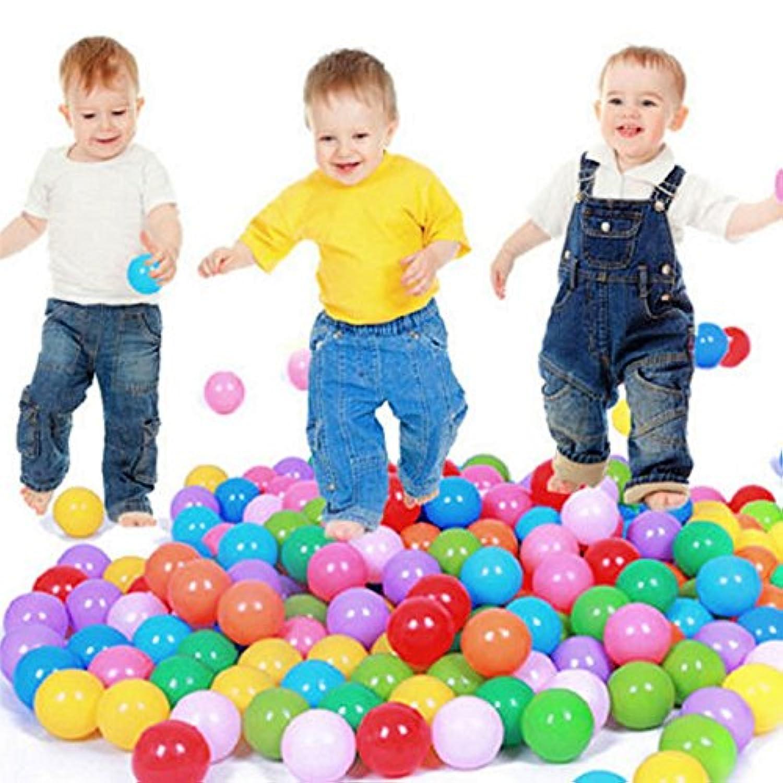 500枚入りベビーキッドPit ToyゲームSwimプールソフトプラスチックOcean br1ボール5.5 CM