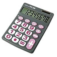MILAN カリキュレーター 8桁電卓 ビッグキー 151708グレー
