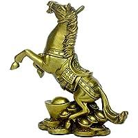 風水グッズ 銅製 金持ちになる馬 大きい元宝  馬蹄銀  馬がひひーんと嘶いて オブジェ RBS055