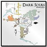 Lawrence Painting The Map of Dark Souls 1?2?3アートキャンバスポスター印刷2?x 2?24?x 24ゲーム画像壁の装飾用