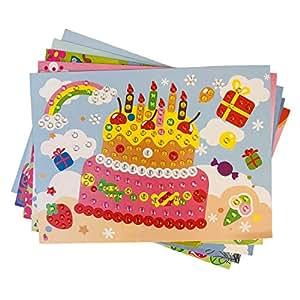 due Gattini(ドゥエガッティーニ) シール 子ども モザイクシール 知育シール ステッカー 知育玩具 知育教材 幼児 園児 集中する キラキラ クリスタル 可愛い 塗り絵 巧緻性 おまけ付き (10枚バリエーションセット+1枚プレゼント)