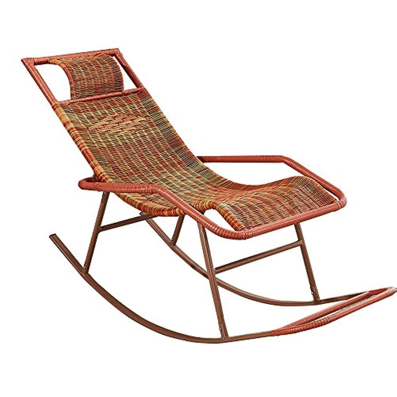 アラブ人累積光景KTYXDE ロッキングチェアの杖の椅子大人のシエスタラウンジのリビングルームのバルコニーの怠惰な椅子のイージーチェア高齢者のレジャーのロッキングチェア 折りたたみ椅子 (色 : A)