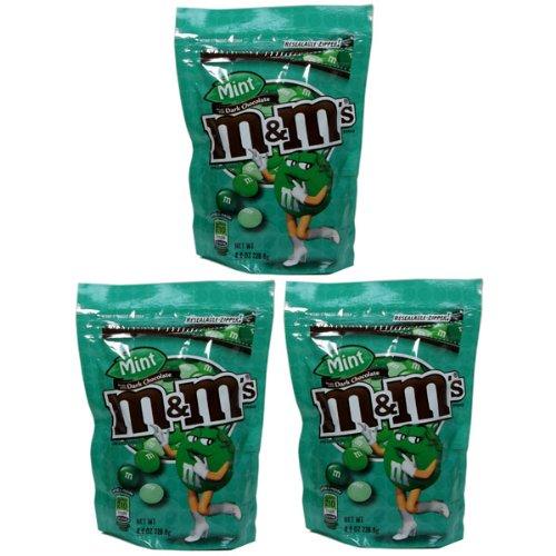 M&M 3フレーバー ジップバッグ  (ミント 3袋)[並行輸入品]