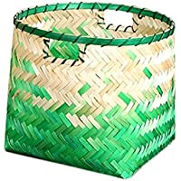 Homyl 手作り 竹繊維製 織物 収納バスケット ホーム オーガナイザ 全3種選べる - #1