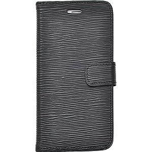 PLATA iPhone6 plus iPhone6s plus ケース 手帳型 ストレート レザー デザイン スタンド ケース ポーチ iPhone 6 6s プラス 【 ブラック 】 IP6P-6021BK