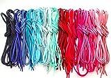 革紐 皮紐 かわひも スエード レザークラフト アクセサリー ネックレス ブレスレット チャーム チョーカー バングル ミサンガ (ピンク/ブルー系20色60本)