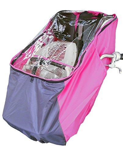 LAKIA(ラキア) 子供乗せ自転車用フロント用チャイルドシートレインカバー ピンク  ピンク