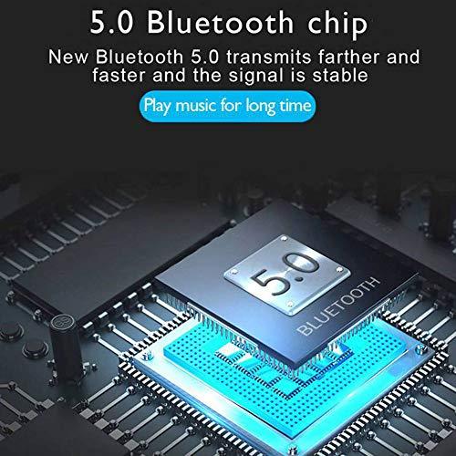 『zhongxinze 【進化版 3000mAh IPX8完全防水】Bluetooth イヤホン Hi-Fi 高音質 最新Bluetooth5.0+EDR搭載 3Dステレオサウンド 完全ワイヤレス イヤホン 自動ペアリング ブルートゥース イヤホン AAC対応 左右分離型 Siri対応 音量調整可能 超大容量充電ケース付き 片耳&両耳とも対応 iPhone/ipad/Android適用 (ブラック)』の4枚目の画像