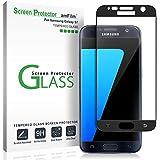 amFilm Galaxy S7 Screen Protector Glass, Full Cover (3D Curved) Tempered Glass Screen Protector for Samsung Galaxy S7 (1 Pack, Black)
