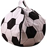Kids Stuffed Animal Storage Bean Bag Chair Large Toys Clothes Organizer Canvas Bean Bag Cover for Children Bedroom