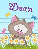 """Dean: Personalized Book with Child's Name, Primary Writing Tablet for Kids, 65 Sheets of Practice Paper, 1"""" Ruling, Preschool, Kindergarten, 1st Grade, 8 1/2"""" x 11"""""""