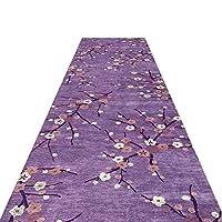 廊下敷きマット 廊下のリビングルームの寝室の教室、柔らかく居心地の良い厚い滑り止めカーペット、屋内の家の装飾、60cm / 100cm / 120cm幅の大きなランナーエリアラグ (Color : Purple, Size : 1.2x9m)