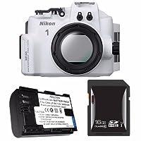 Nikon wp-n3防水ハウジングfor Nikon 1j4またはs2カメラとNikkor 11–27.5MMまたは10–30mmレンズ+ en-el22バッテリー+ 16GB SDHCカードセーバーバンドル1