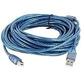 uxcell USB 2.0ケーブル プリンタブルー USB 2.0タイプ Aコネクタオス-Bコネクタオス 10M 高速
