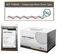 【並行輸入】 ACE PDO Thread lift Korea (リフティング糸 / メソン / 漢方病院針 / 鍼 ) / Ultra V-Lift / Face Lift - Embossing Mono Screw Type 100pcs (27G60)