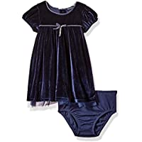 Nautica Baby Girls' Velour Dress with Tulle Underlay