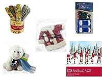 クリスマスFun for Everyoneギフトバンドル[ 5Piece ]–Holiday Decor–アクセサリー–ギフトアイテム–Item No dbund-xmas-2972