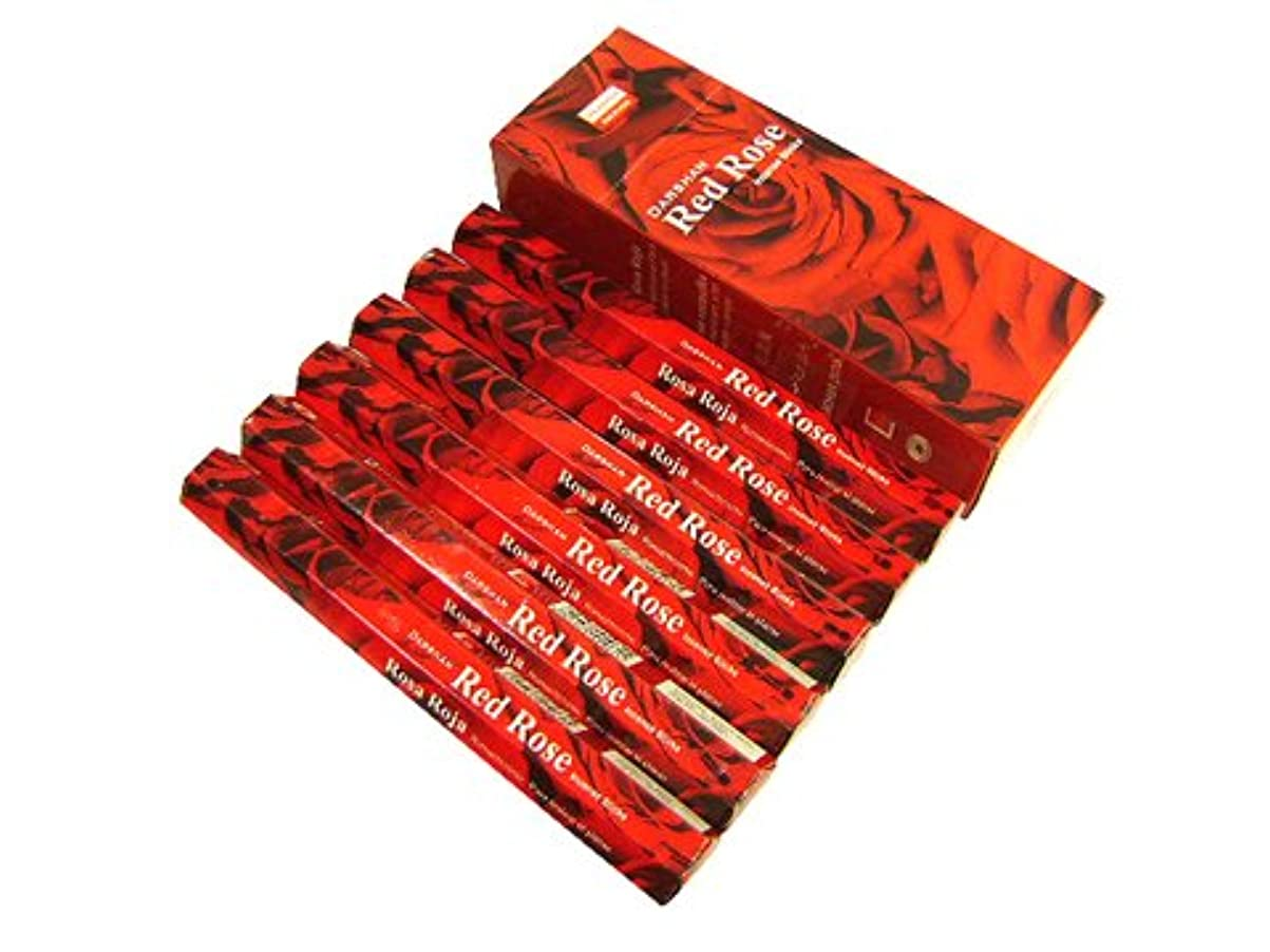 輸送後ろにコショウDARSHAN(ダルシャン) レッドローズ香 スティック RED ROSE 6箱セット