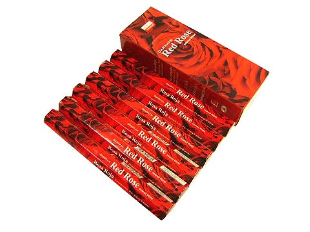 打ち上げる緊張するダンプDARSHAN(ダルシャン) レッドローズ香 スティック RED ROSE 6箱セット