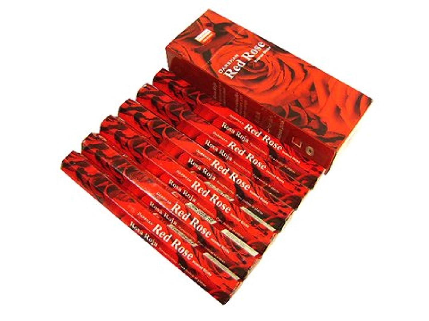 美的肥沃な定期的なDARSHAN(ダルシャン) レッドローズ香 スティック RED ROSE 6箱セット