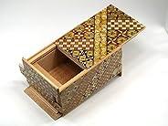 寄木細工 秘密箱21回仕掛け 5寸 小寄木 Japanese Puzzle box 21steps 5sun Koyosegi