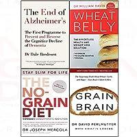 End of alzheimer's wheat belly no-grain diet grain brain 4 books collection set [並行輸入品]