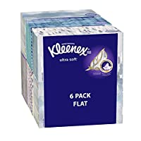 Kleenex Ultra Soft & Strong Facial Tissues, Medium Count Flat, 170 ct, 6 Pack by Kleenex