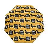 折りたたみ傘 自動開閉 レディース 犬 ペット 個性的 オレンジ 軽量 携帯 日傘 ワンタッチ UVカット 頑丈な8本骨 耐強風 グラスファイバー 収納ケース付