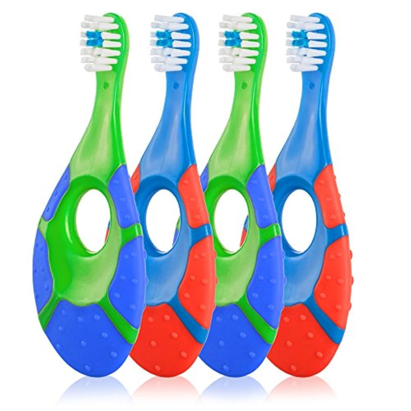 四面体ラダアグネスグレイFarberにベビー乳児幼児用歯ブラシ – BPAフリーソフト剛毛0 – 2歳用(4パック)