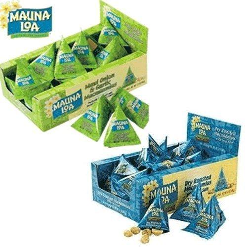 マウナロア マカデミアナッツ 24小袋パック 2個セット(塩味/マウイオニオン&ガーリック)