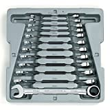 GEARWRENCH 12 Pc. 12 Point Ratcheting Combination Metric Wrench Set - 9412