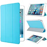 Apple iPad Mini 4 ケース,【選べる5色】【JPIVSO®】オリジナルApple iPad Mini 4 専用カバー スマートケース 超薄型 最軽量 -Apple iPad Mini 4 専用ケース (Apple Ipad Mini 4, ブルー)