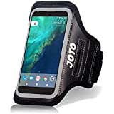 Universal Smartphone Cellphone Armband, JOTO Sport Exercise Belt Armband Cover for S6, S7, HTCM9, iPhone 6/6s, Google Pixel, Pixel 2, for Man and Woman, Gym Running Workout Fitness Arm Band -Black