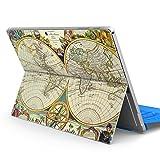 Surface pro 4 専用スキンシール サーフェス プロ ノートブック ノートパソコン カバー ケース フィルム ステッカー アクセサリー 保護 ジャンル その他 世界 地図 006040