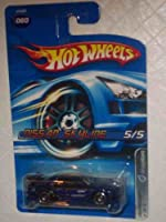 Dropstars #5 Nissan Skyline Metalflake Blue Open Hole 5-Spokes #2006-60 Collectible Collector Car Mattel Hot Wheels 1:64
