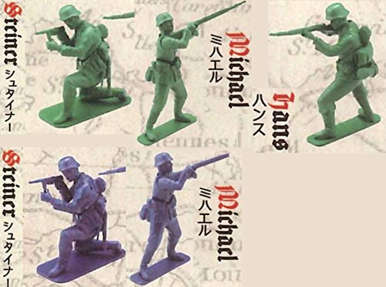 カプセルQキャラクターズ サンゴーアクションソルジャーズ 5種 セット [グリーン 3種 / ネイビー 2種]